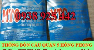 Bán bột thông bồn cầu Quận 5 giao hàng tận nơi 0903737957