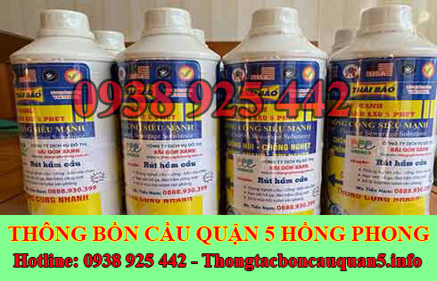 Nước hóa chất thông cống Thái Bảo bao nhiêu tiền 1 chai