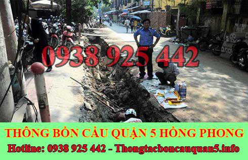 Thi Công Đào Lắp Đặt Đường Cống Thoát Nước Quận 5 Hồng Phong.