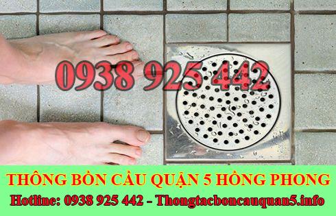 Xử lý mùi hôi bồn cầu toilet nhà vệ sinh Quận 5 Hồng Phong