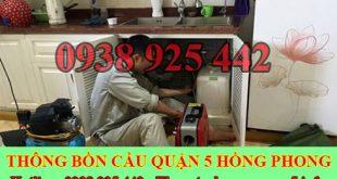 Số điện thoại thông cống nghẹt Quận 5 giá rẻ 0909996752