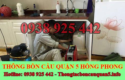 Số điện thoại thông cống nghẹt Hồng Phong giá rẻ 0938925442