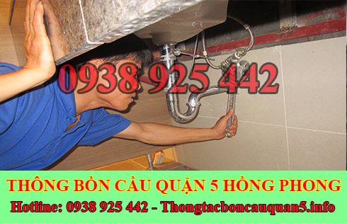 Thợ sửa bồn rửa chén bát Quận 5 tại nhà giá rẻ 0938925442