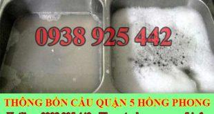Thông tắc bồn chậu rửa chén bát Quận 5 giá rẻ 0932416635